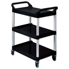 BUSSING CART 3 LEVELS - RUBBERMAID