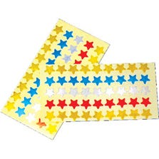 STAR METALLIC STICKERS