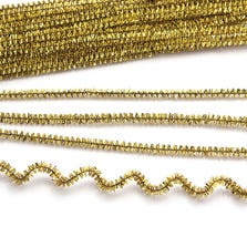 TINSEL PIPE CLEANERS-GOLD