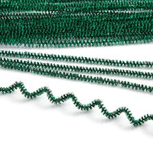TINSEL PIPE CLEANERS-GREEN