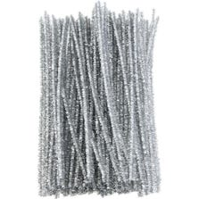 TINSEL PIPE CLEANERS-SILVER