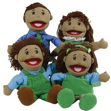 FULL BODIED OPEN MOUTH PUPPETS - BROWN FAMILY *FD