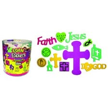 BIBLE FOAM STICKERS BUCKET *SF