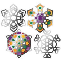 SNOWFLAKE STAINED GLASS