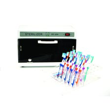 TOOTHBRUSHES AND SANITIZER UNIT KIT.
