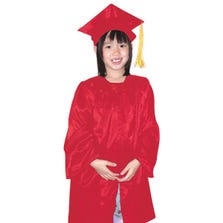 GRADUATION GOWN & CAP SETS - RED *GDY