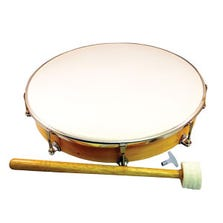 "12"" HAND DRUM - TUNABLE WITH MALLET"