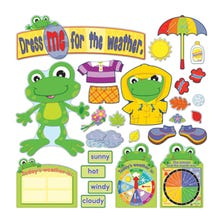 FUNKY FROG WEATHER BULLETIN BOARD SET