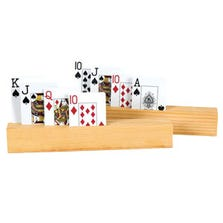 4 SLOT WOODEN CARD HOLDER - 2 PIECE