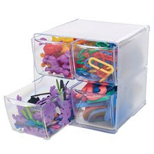 STACKABLE CUBE ORGANIZERS - 4 DRAWERS