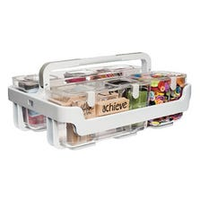 STACKABLE CADDY ORGANIZER WITH 3 CANISTERS