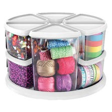 "ROTATING CAROUSEL ORGANIZER - 3"" & 6"" CANISTER SET"