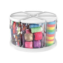 "ROTATING CAROUSEL ORGANIZER - 6"" CANISTER SET"