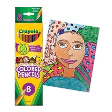 MULTICULTURAL COLOURED PENCILS CRAYOLA - 8/PACK