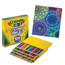 COLOURED PENCILS CRAYOLA 100 PC