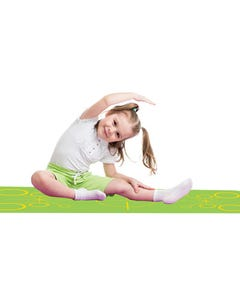 MERRITHEW ECO YOGA MAT FOR KIDS ALIGNMENT GREEN CHILD-SIZE