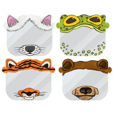 MY ANIMAL CHILDREN'S FACE SHIELD 8 PC *4 DESIGNS