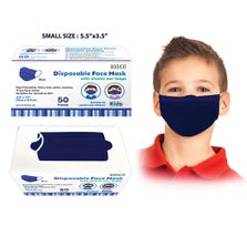 DISPOSABLE FACE MASK KIDS BLUE 3 PLY WITH EAR LOOP 50 PC