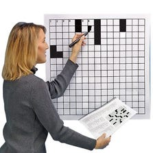 LAMINATED BLANK CROSSWORD PUZZLE GRID 24 x 24